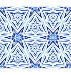 elegant kaleidoscope star pattern blue vector image