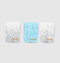 flyer brochure design template water aqua splash vector image