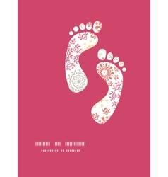 folk floral circles abstract footprints vector image