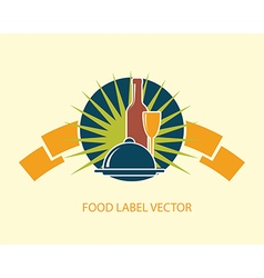 food emblem label vector image