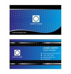 Four business card set elements for vector