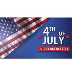 Fourth of july realistic greeting card happy vector