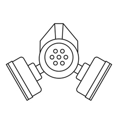 Gas mask icon outline style vector
