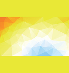 geometric blue yellow summer texture background vector image