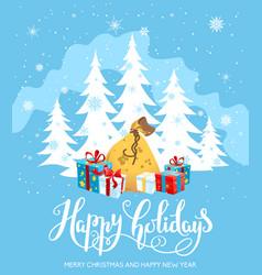 gifts holiday card vector image