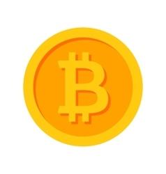 Golden Bitcoin Icon vector image vector image