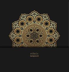 Golden floral ornamental mandala style design vector