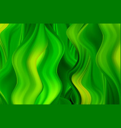 green wavy paint streams abstract vector image