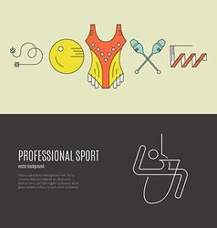 Gymnastics Flyer Concept vector image