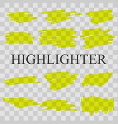 highlighter vector image