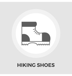 Hiking shoes flat icon vector image vector image