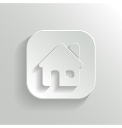 Home icon - white app button vector image
