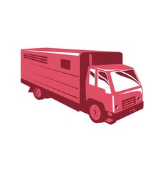 Horse truck trailer retro vector