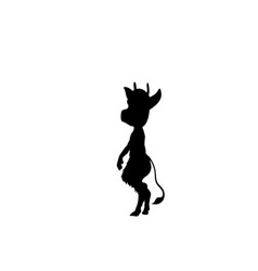 imp silhouette ancient mythology fantasy vector image