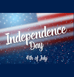 independence day usa poster vector image