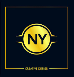 Initial letter ny logo template design vector