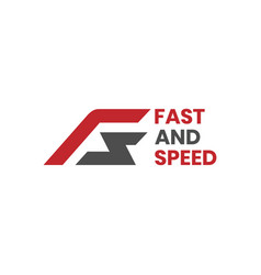 Initial letters fs logo for fast and speed concept vector
