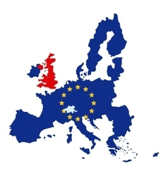 Isolated brexit map design vector
