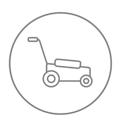 Lawnmover line icon vector image