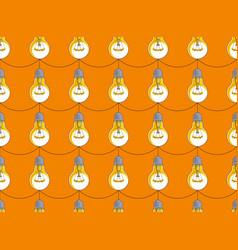 light bulbs seamless background creative ideas vector image