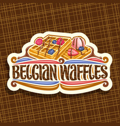 logo for belgian waffles vector image