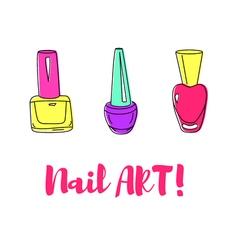 Nail polish vector