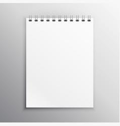 Notebook display mockup vector