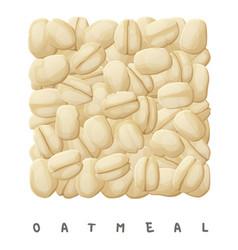 oatmeal square icon cartoon vector image