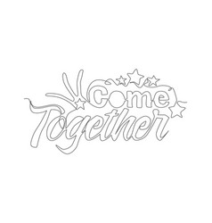 one single line drawing cute and fabulous vector image
