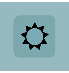 Pale blue sun icon vector