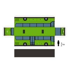 Paper model a green bus vector