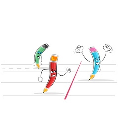 pencil race vector image