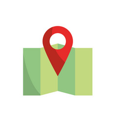 pointer gps folded map and navigation vector image
