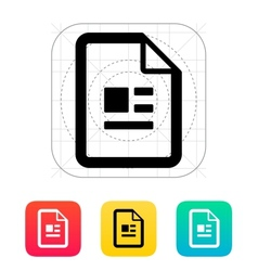 Publication file icon vector