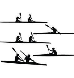 Rowing - vector