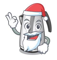 Santa mascot cartoon household kitchen electric vector
