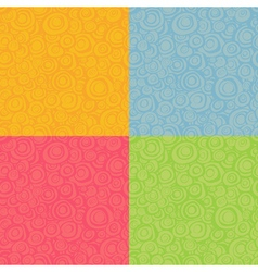 seamless loop spiral patterns in multiple color vector image