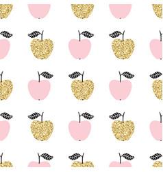 Seamless pattern with apples scandinavian design vector