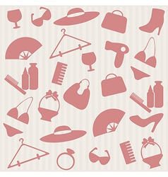 Seamless pattern with womans things vector