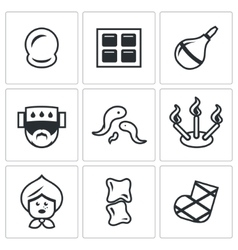Set of Alternative Medicine Icons Vacuum vector