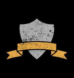 Shield crest icon vector