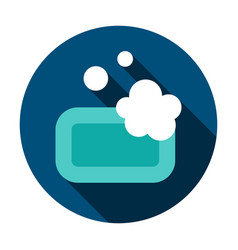 soap circle icon vector image