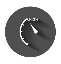 Speedometer tachometer fuel high level icon flat vector
