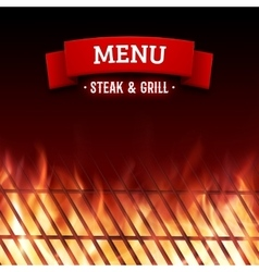 Steak and grill house menu background vector