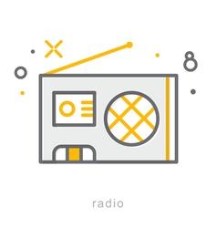 Thin line icons Radio vector image