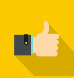 thumb up gesture icon flat style vector image