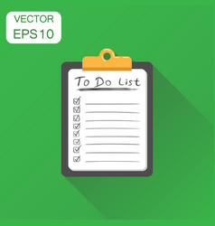 To do list notepad icon business concept task vector