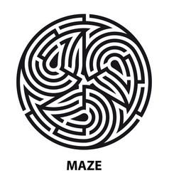 Triskelion symbol tattoo maze geometric circular vector