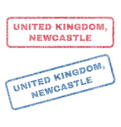 united kingdom newcastle textile stamps vector image
