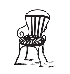 Vintage chair vector
